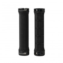 Grips HALF DIAMOND DOUBLE - noir / 2x colliers noir