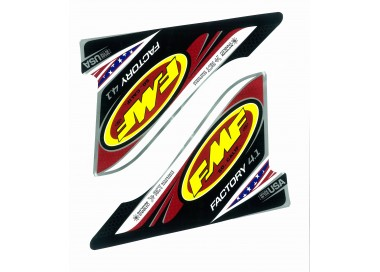 FMF FACTORY 4.1 U.S.A. 2-PART WRAP LOGO DECAL REPLACEMENT