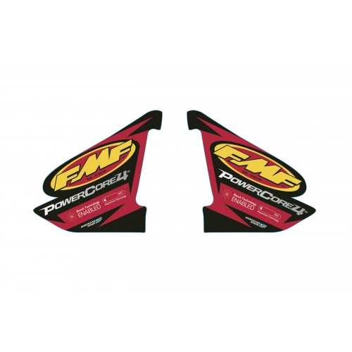FMF POWERCORE 4 2-PART WRAP LOGO DECAL REPLACEMENT