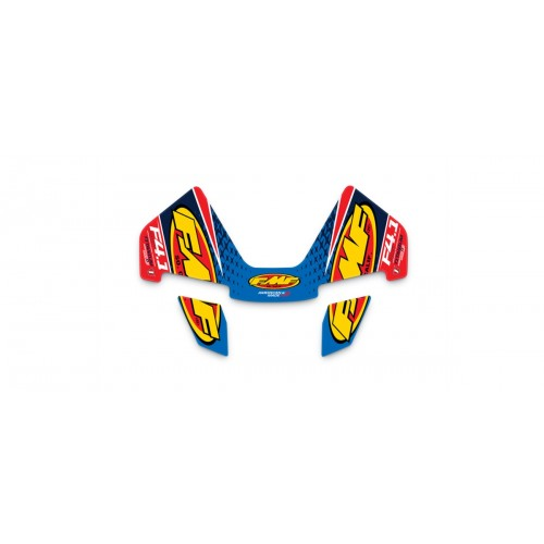 FMF FCTRY 4.1 TITANM CRBN END CAP RCT WRAP DECAL RPLCMT