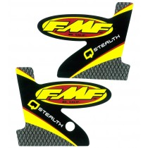 FMF Q STEALTH 2-PART WRAP LOGO DECAL REPLACEMENT