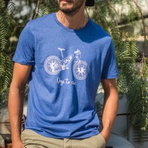 T-shirt URGE TO RIDE - bleu