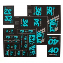 Kit stickers FOX Heritage 2019 - Fourche et amort - Turquoise